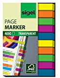 Sigel HN617 Haftmarker Film, Textstreifen, 400 extra schmale Streifen im Format 6 x 50 mm, 2x5 Farben - weitere Mod