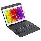 Acepad A12X LTE Tablet, 25,6 cm (10,1 Zoll HD IPS), 4G Dual SIM, 64 GB Speicher, 2 GB RAM, Android 6, Quad Core, WiFi, GPS, BT/USB/SD (Weiß mit Tastaturtasche)