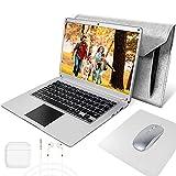 NBD 14,1 Zoll Laptop, Windows 10 Netbook, 14''1 1080P Full HD IPS Leptop, Intel Celeron N3350 4 GB RAM 64 GB Notebook mit QWERTZ Tastaturlayou