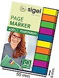 Sigel HN617 Haftmarker Film, Textstreifen, 400 extra schmale Streifen im Format 6 x 50 mm, 2x5 Farb