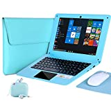 G-Anica® 25,7 cm (10,1 Zoll) Windows 10 Laptop Quad Core Notebook Slim und leicht Mini Netbook Computer mit Netflix Youtube Bluetooth Wifi Webcam HDMI und Laptoptasche, Maus, Mauspad, Kopfhörer (grün)